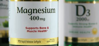 Magnesium Label Royalty Free Stock Photography