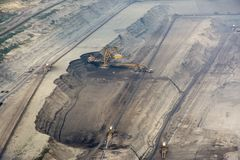 View of surface coal quarry Stock Photo