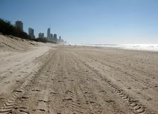 View of Surfers Paradise on the Gold Coast, Queensland, Australia Stock Images