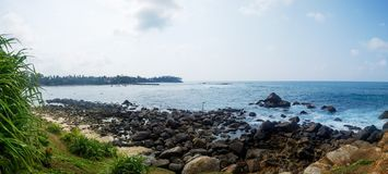 View on surfing place in Mirissa Sri Lanka. stock images