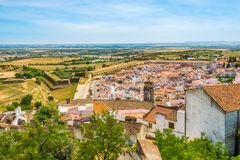 View of the surroundings of the old town of Elvas - Portugal stock image