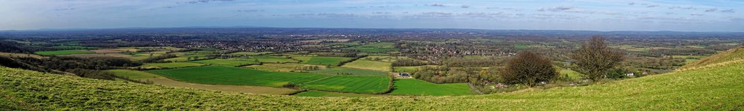 View of the Sussex Weald from the Downs Stock Images