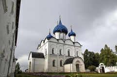 View of Suzdal Kremlin: Cathedral of the Nativity of the Virgin. Suzdal, Golden Ring of Russi Royalty Free Stock Photos