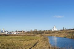 View of Suzdal in  late autumn. Golden Ring  Russia Travel Stock Image