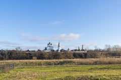 View of Suzdal in  late autumn. Golden Ring  Russia Travel Royalty Free Stock Images