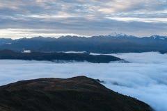 View of the Svan mountain range in Georgia Stock Image