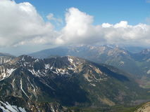 View from Svinica peak in High Tatras in Poland Royalty Free Stock Photography