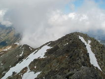 View from Svinica peak to Zawrat in High Tatras in Poland Royalty Free Stock Photography
