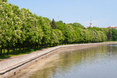 View at the Svisloch river in Minsk Stock Photos