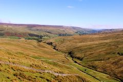 View into Swaledale from Butter Tubs Pass Yorkshire Stock Images