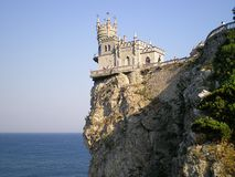 View of the Swallows Nest Castle,Crimea. View of the Castle Swallows Nest by lifting the stairs stock image