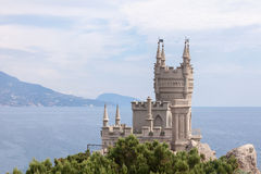 View of the Swallow's nest lock in  Crimea, Russia Royalty Free Stock Photos