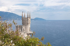 View of the Swallow's nest lock in  Crimea, Russia Stock Photo