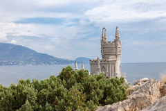 View of the Swallow's nest lock in Crimea, Russia Royalty Free Stock Images