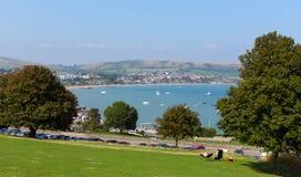 View of Swanage bay Dorset England UK south coast Stock Image