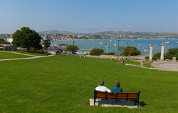 View Swanage Dorset England UK in summer Stock Photography