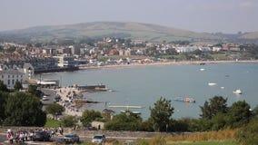 View of Swanage Dorset England UK stock footage