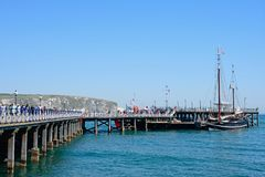 View of Swanage Pier. Royalty Free Stock Photography