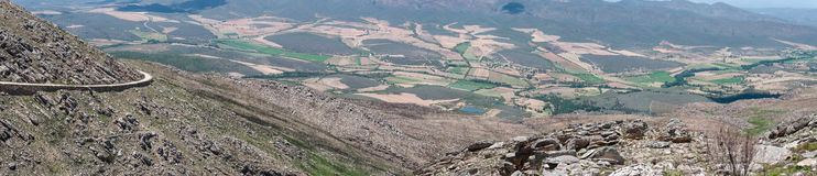 View from the Swartberg Pass to the East Stock Image