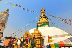 View of Swayambhunath, Kathmandu, Nepal Stock Photo