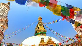 View of Swayambhunath, Kathmandu, Nepal Stock Photography