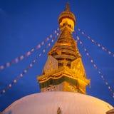 View of Swayambhunath at night Stock Photos