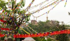 View of Swayambhunath Stupa,Kathmandu Stock Images