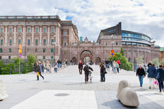 View on sweden Riksdag building Stock Photo