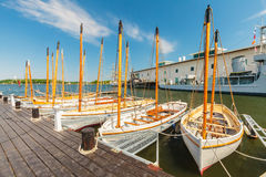View at the swedish naval museum in Karlskrona Royalty Free Stock Photography