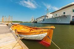 View at the swedish naval museum in Karlskrona Royalty Free Stock Photos
