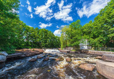 View at the Swedish river Morrum in Blekinge Stock Photography