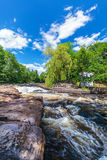 View at the Swedish river Morrum in Blekinge Royalty Free Stock Photography
