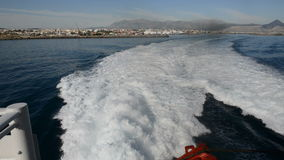 The view from swimming ferry on Crete island. Greece stock video