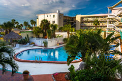 View of the swimming pool at a hotel in Clearwater Beach, Florid Stock Photography