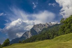 View at Swiss Alps Royalty Free Stock Photography