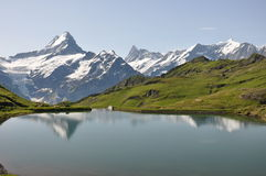 View on the Swiss Alps Stock Image