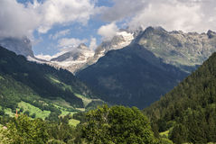 View of the Swiss alps: Beautiful Gimmelwald central Sw. Itzerland Stock Photos