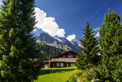 View of the Swiss alps: Beautiful Gimmelwald village, central Sw Stock Photos