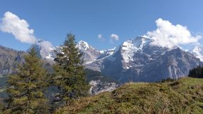 View at Swiss alps, Eiger in Switzerland. royalty free stock photo