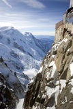 View of Swiss Alps from Mont Blanc Royalty Free Stock Image