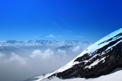 View of swiss high mountain rock Stock Photography