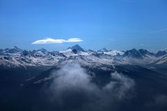 View of swiss mountains Royalty Free Stock Images