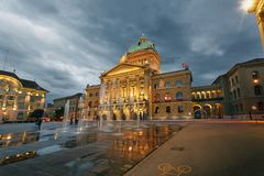 Swiss Parliament Stock Photography