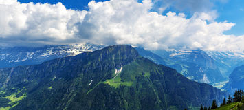 View On Switzerland Mountain Landscape Stock Images