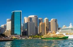 View of Sydney at Circular Quay. Australia Stock Photo