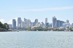 View of Sydney city from a distance Royalty Free Stock Images