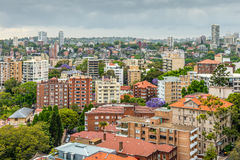 View of Sydney in cloudy weather Stock Image