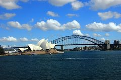 The View of Sydney Harbor stock image