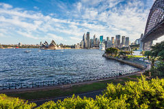 View of Sydney with Harbor Bridge Australia Stock Photos