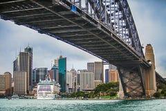 View of Sydney with Harbor Bridge  Australia. View of Sydney with Harbor Bridge New South Wales Australia Stock Images